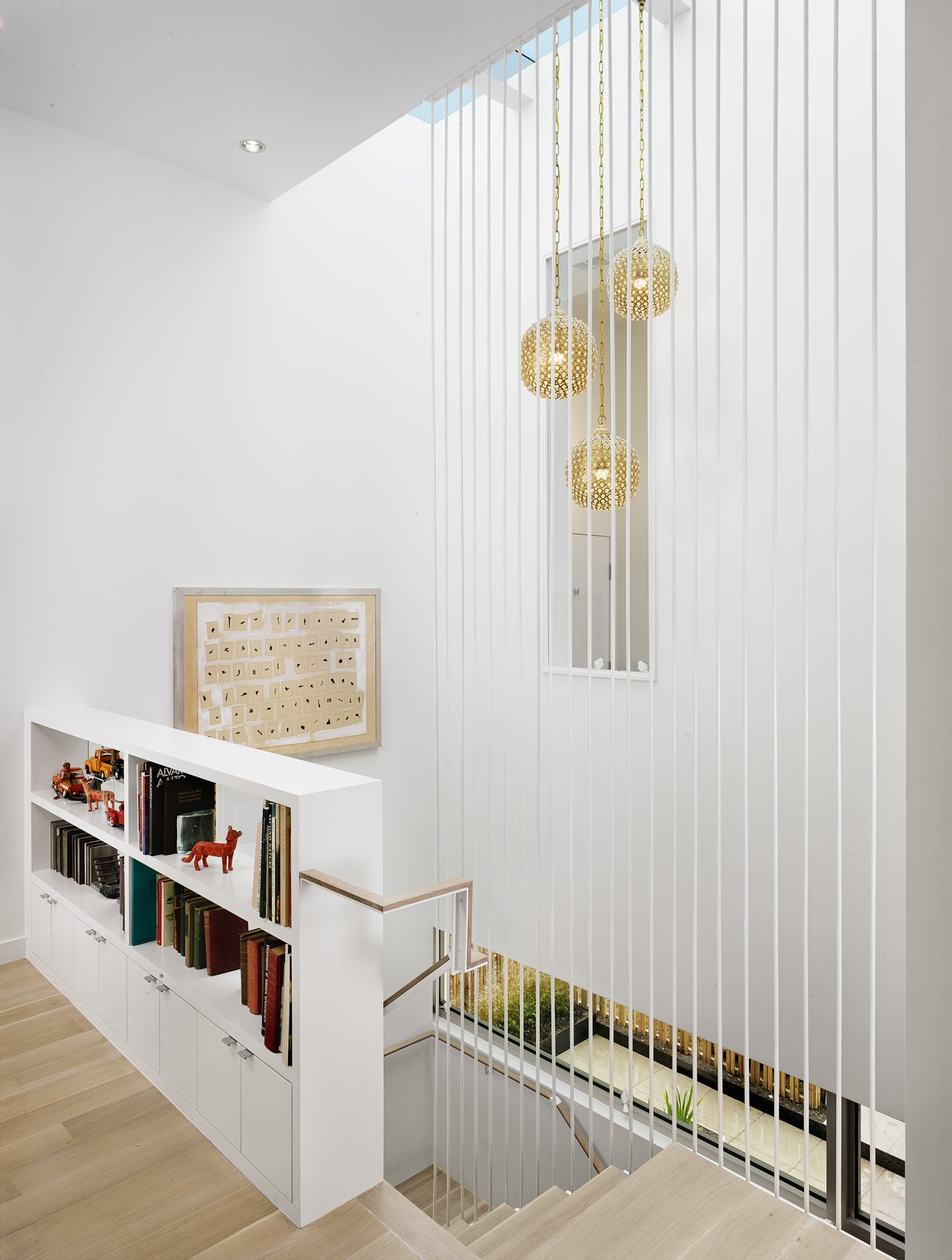 Stairway detail  Lakeshore Residence by Texas Construction Company