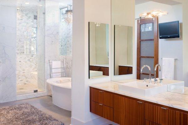 Master bath Photo 7 of Meriden Residence modern home