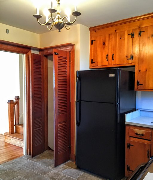 Kitchen Before Photo  of split-level transformed west coast modern modern home