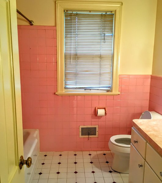 Bathroom Before Photo 2 of split-level transformed west coast modern modern home