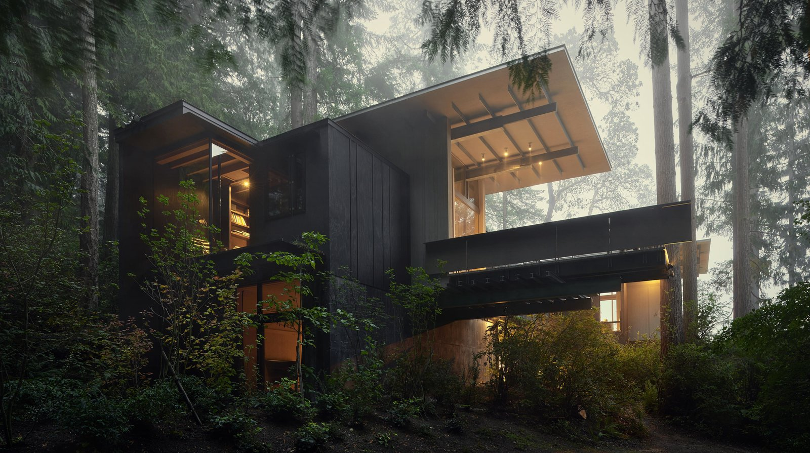 Cabin at Longbranch | Olson Kundig Tagged: Outdoor, Woodland, and Slope. Best Photos
