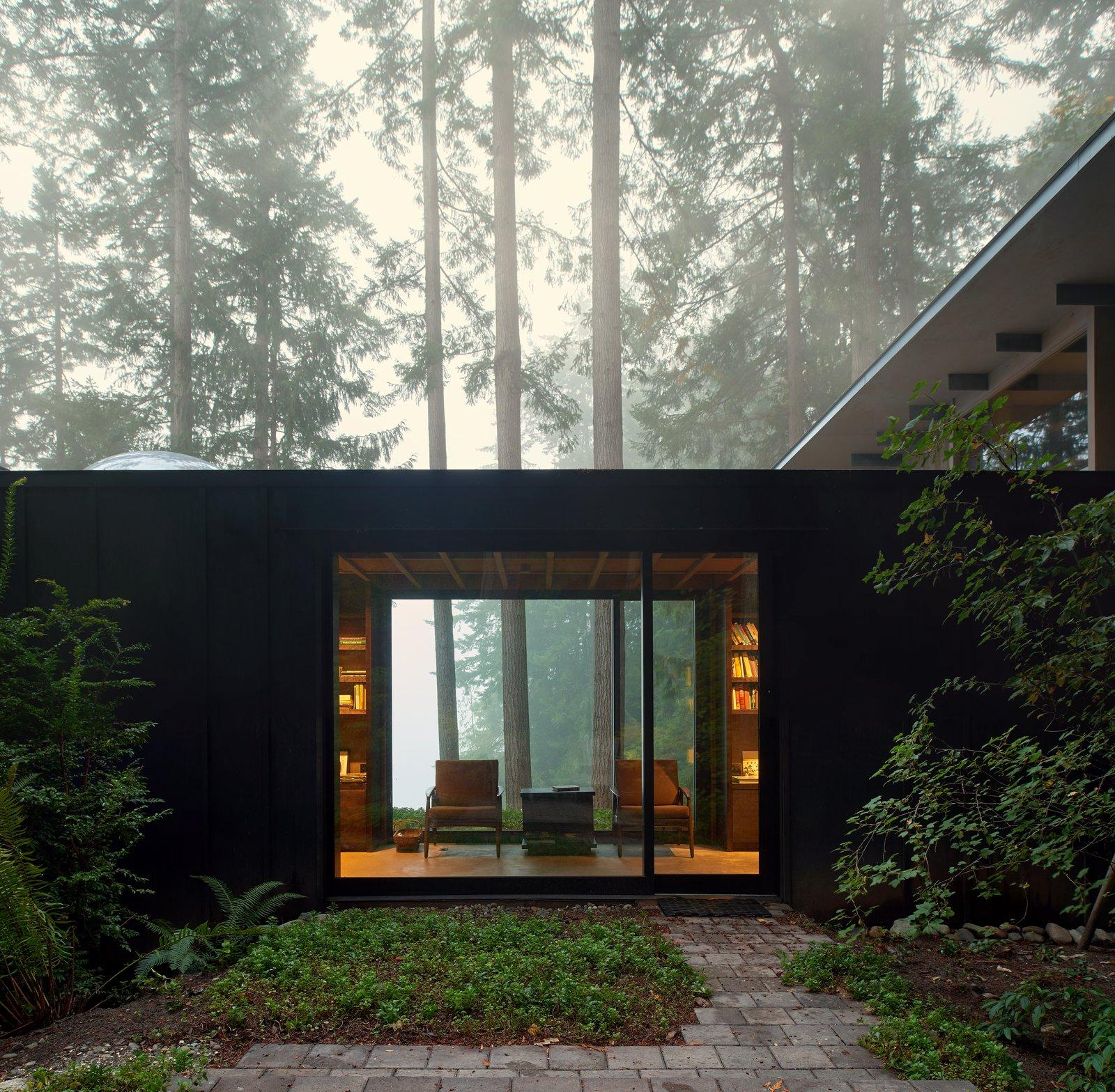 Cabin at Longbranch | Olson Kundig Tagged: Outdoor, Back Yard, Woodland, Walkways, and Shrubs.  Cabin in Longbranch by Olson Kundig