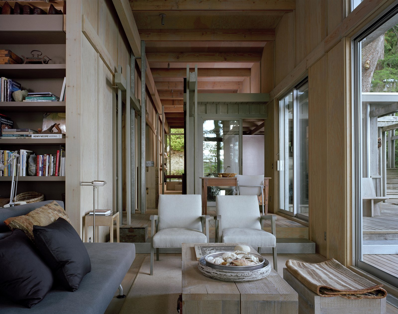 Cabin at Longbranch | Olson Kundig Tagged: Living Room, Chair, and Sofa.  Cabin in Longbranch by Olson Kundig