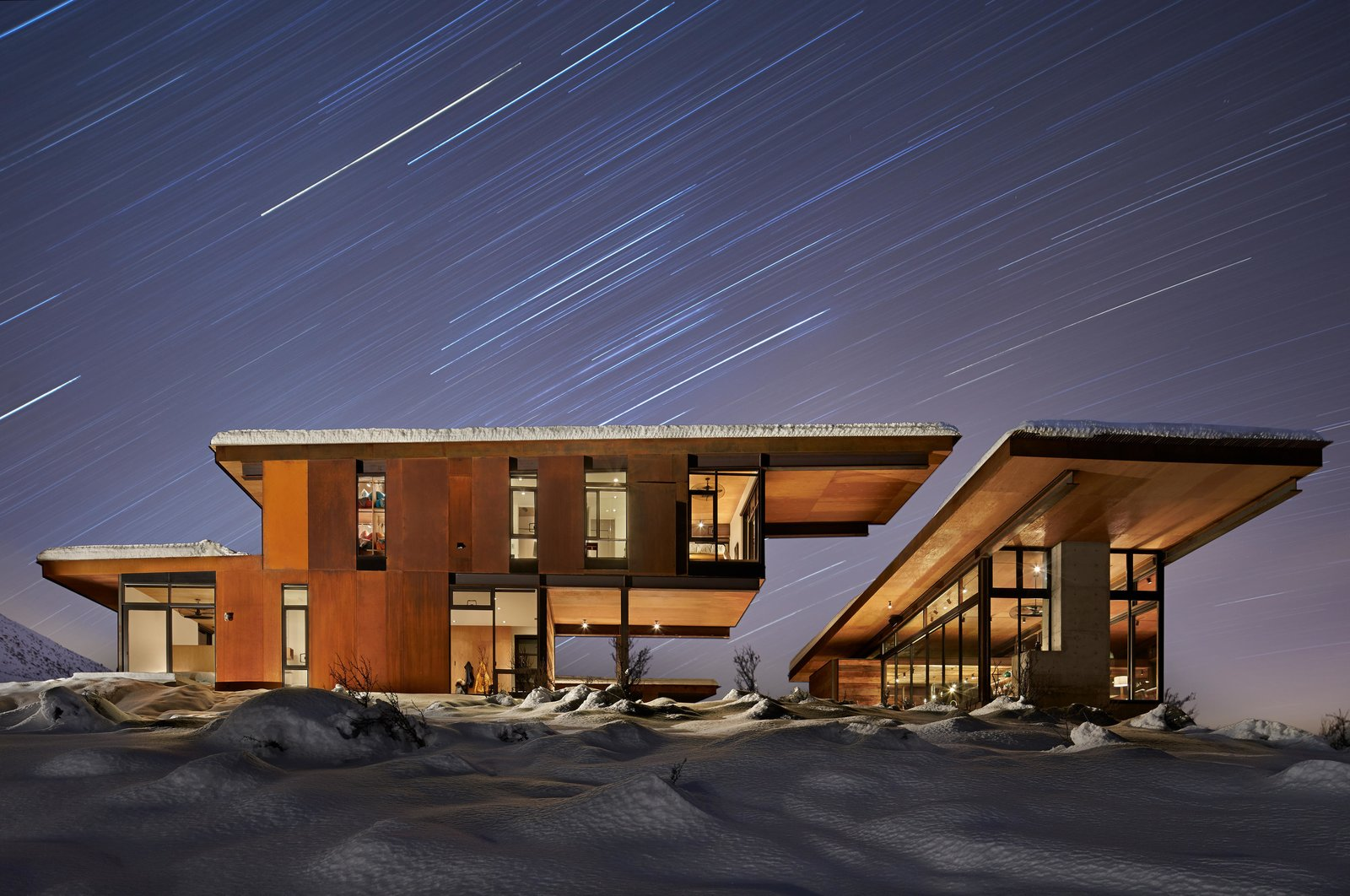 Studhorse | Olson Kundig Tagged: Exterior, Cabin Building Type, House, Flat RoofLine, and Metal Siding Material.  Studhorse by Olson Kundig
