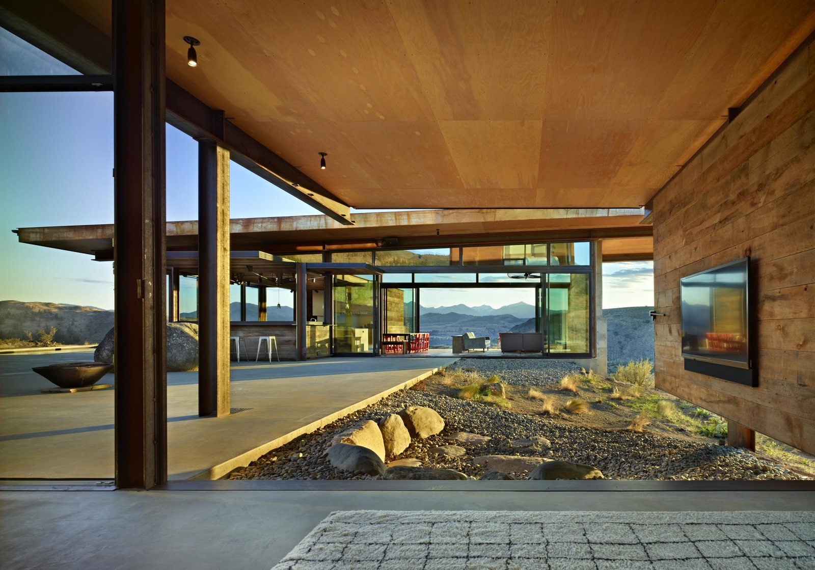 Studhorse | Olson Kundig Tagged: Outdoor, Boulders, Large Patio, Porch, Deck, and Desert.  Studhorse by Olson Kundig