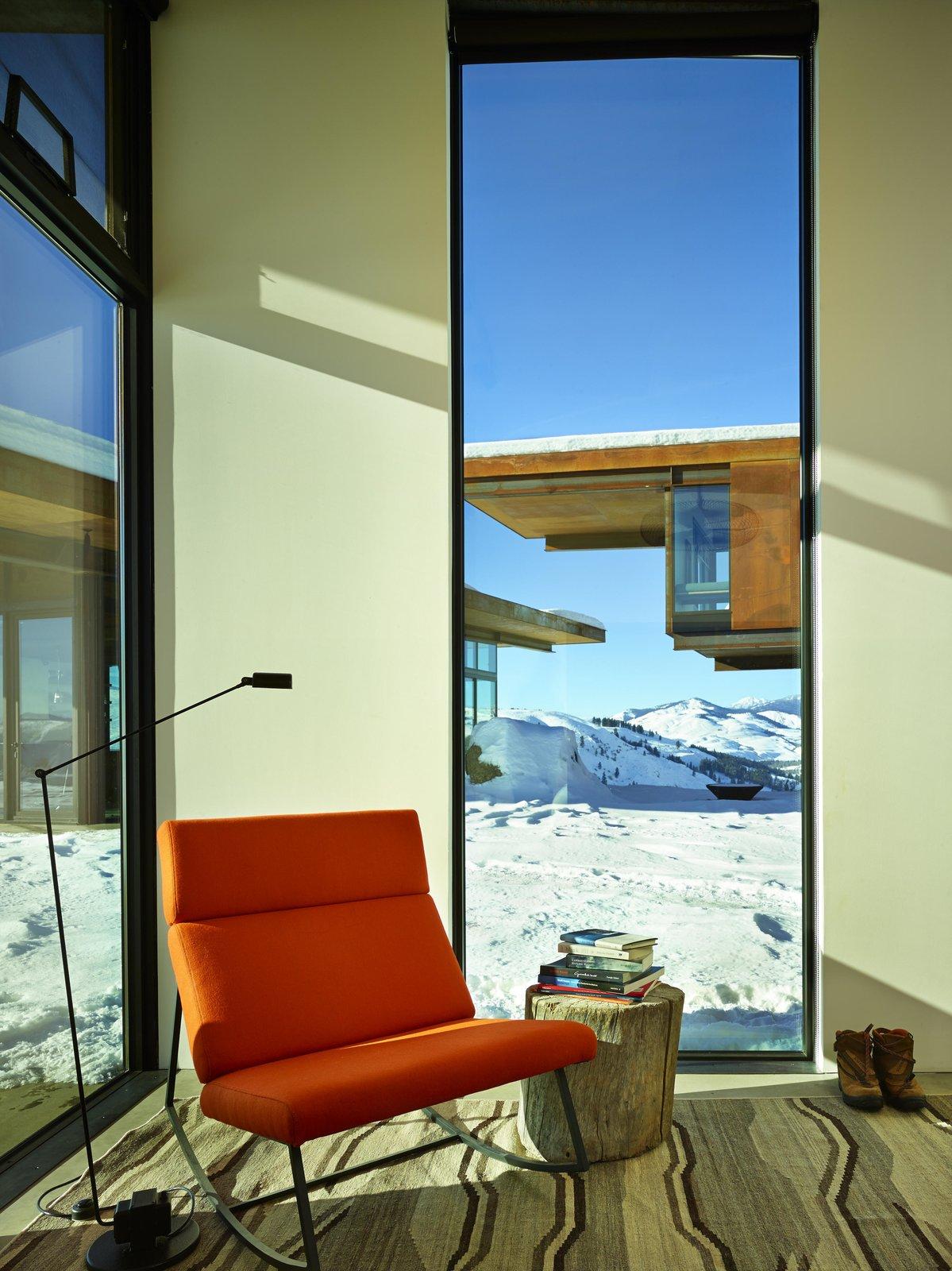 Studhorse | Olson Kundig Tagged: Living Room, Chair, and Floor Lighting.  Studhorse by Olson Kundig