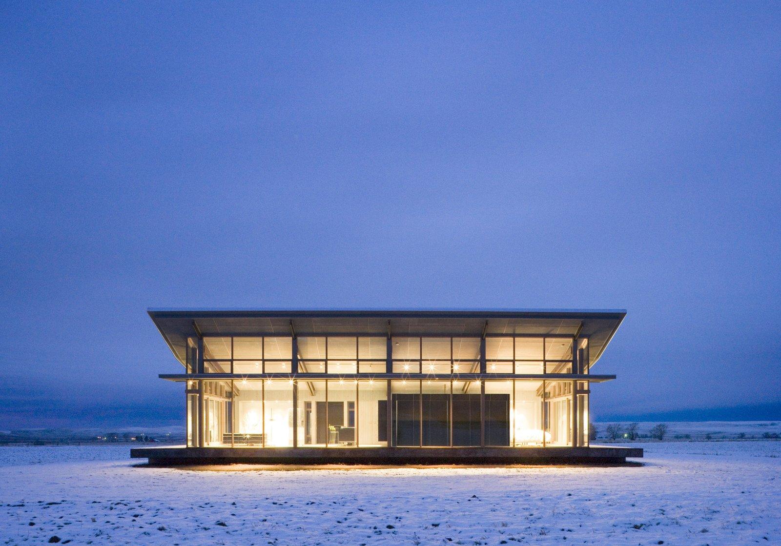 Glass Farmhouse | Olson Kundig Tagged: Exterior, House, Glass Siding Material, and Wood Siding Material.  Best Photos from Glass Farmhouse