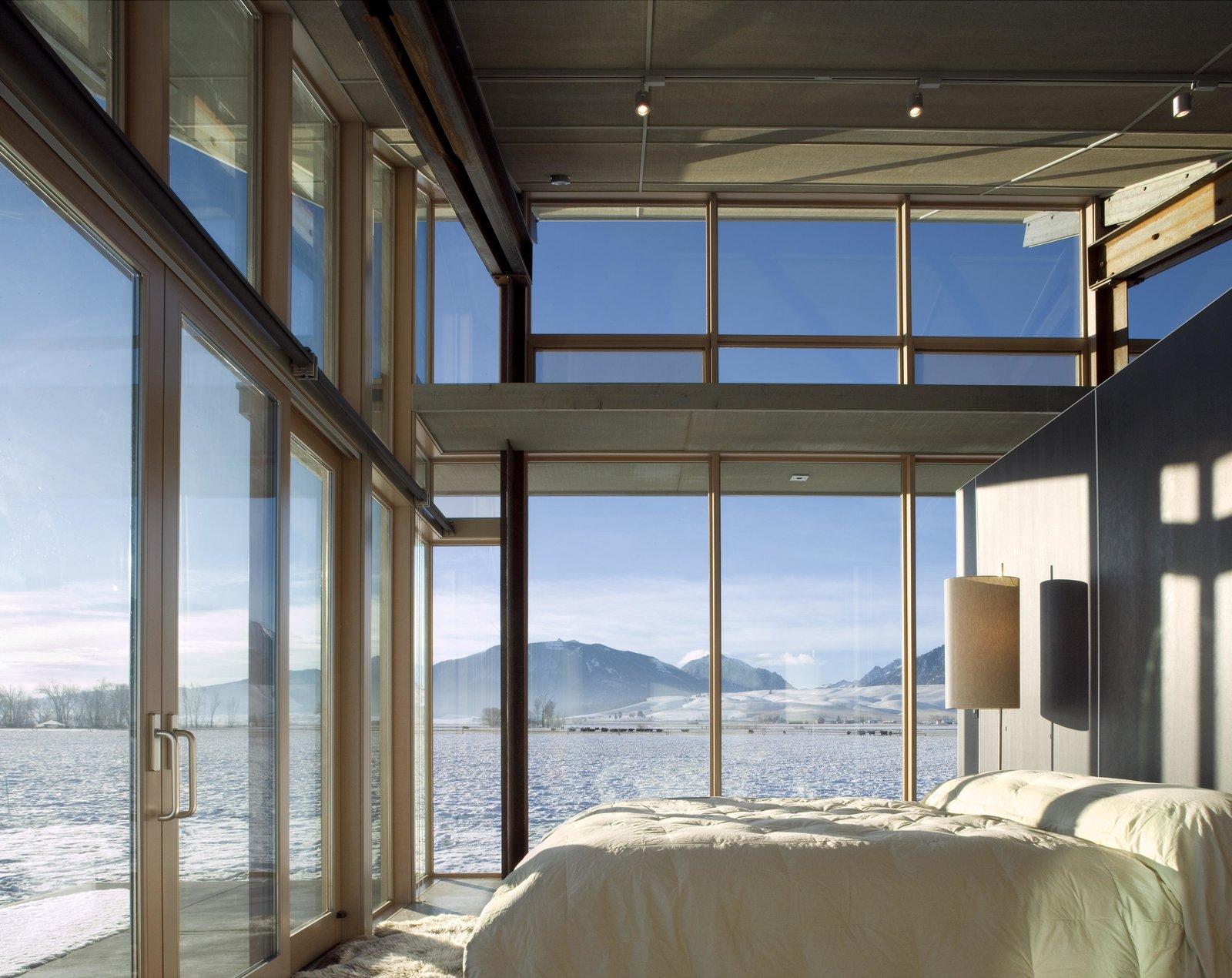Glass Farmhouse | Olson Kundig Tagged: Bedroom, Bed, and Floor Lighting.  Glass Farmhouse by Olson Kundig