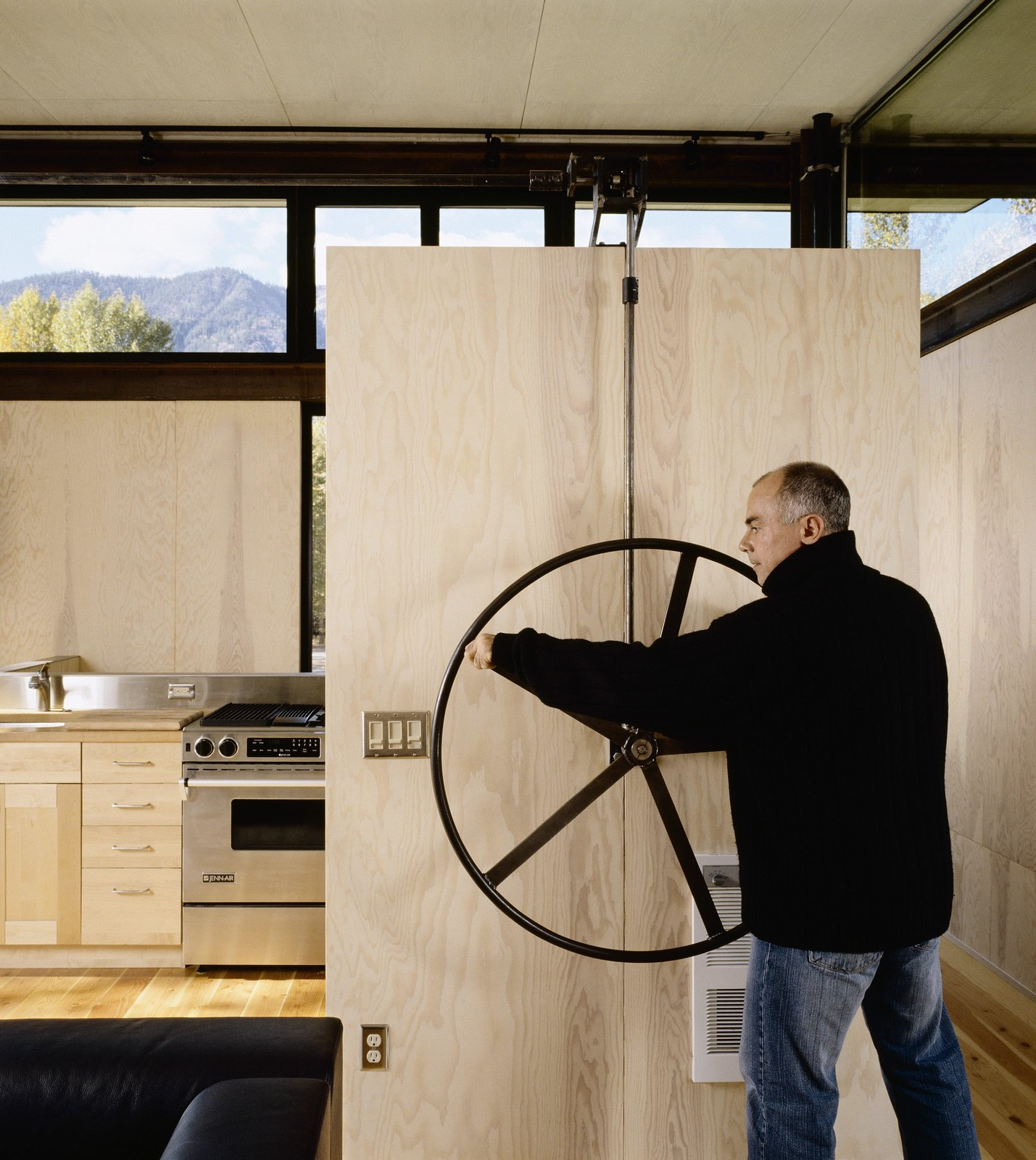 Delta Shelter | Olson Kundig Tagged: Kitchen, Wood Counter, and Wall Oven.  Delta Shelter by Olson Kundig