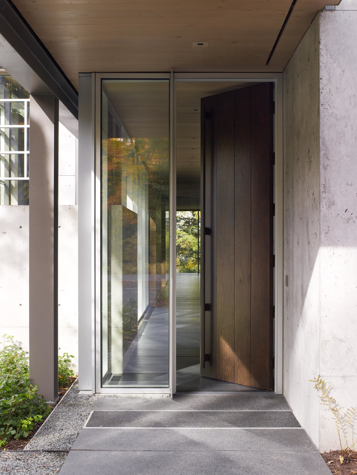 Northwoods House Tagged: Garden, Exterior, and Doors.  Northwoods House by Olson Kundig