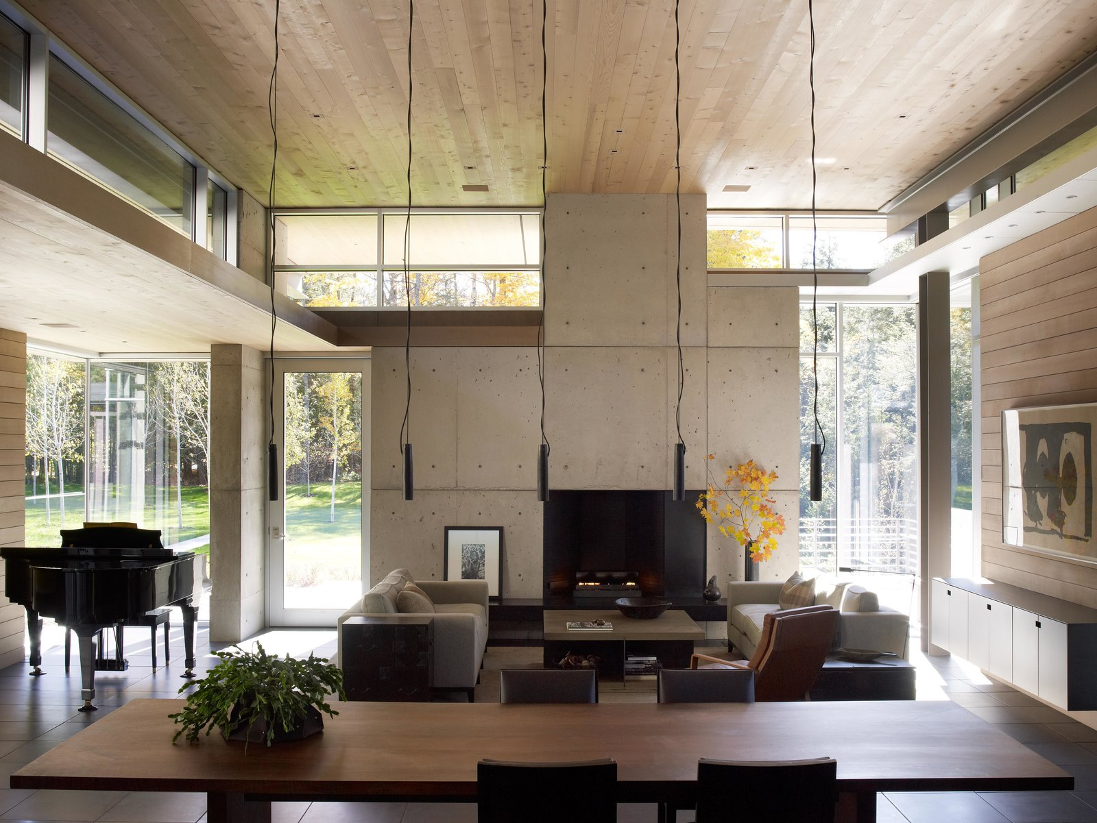Northwoods House Tagged: Exterior, Wood, Coffee Tables, Garden, Pendant Lighting, Ceiling Lighting, Sofa, Metal, and Living Room.  Northwoods House by Olson Kundig