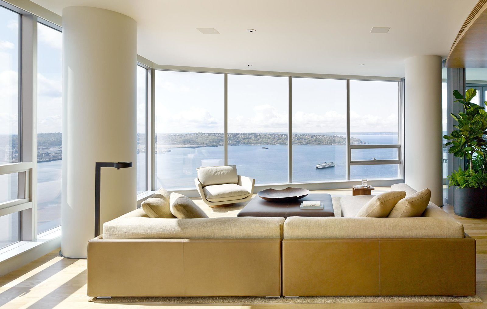 Harbor Loft | Olson Kundig Tagged: Living Room, Sectional, Coffee Tables, Sofa, and End Tables. Harbor Loft by Olson Kundig