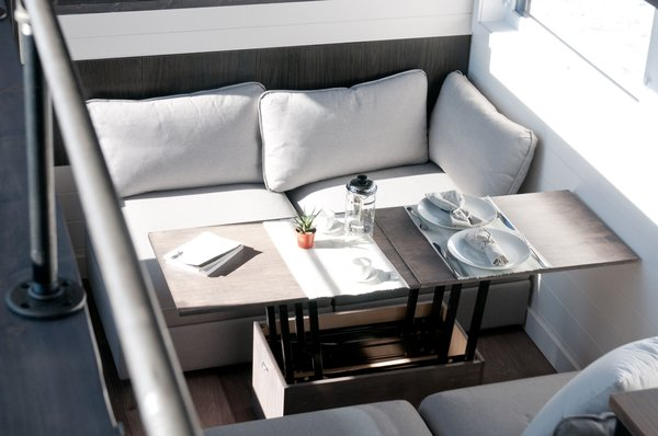 Convertible table and couch Photo 4 of Tiny house on wheels - The Sakura modern home