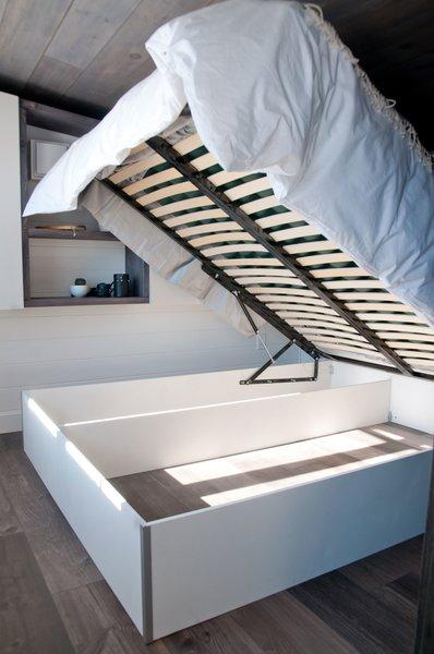 Bed storage Photo 3 of Tiny house on wheels - The Sakura modern home