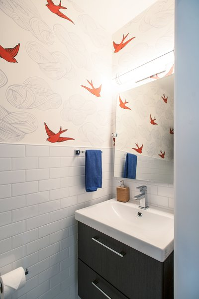 Modern home with bath room and wall lighting. Bickford Park - Bathroom Photo 17 of Bickford Park