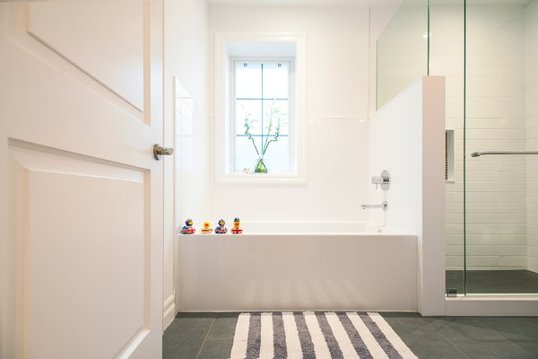 Modern home with bath room, alcove tub, and enclosed shower. Edwardian Renovation - Bathroom Photo 8 of Edwardian Renovation