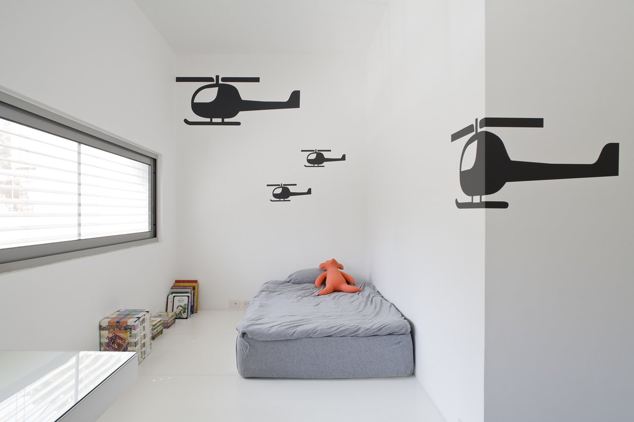 One of three children's bedrooms on the main level  eHouse by Axelrod Architects