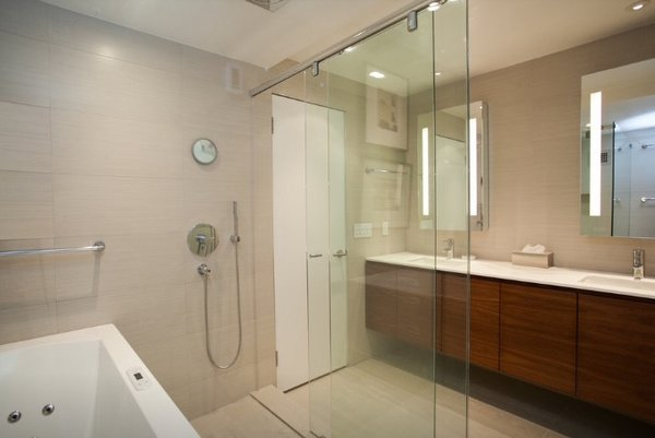 Shower-Bath comb. enclosure Photo 7 of Modern Again: a modern update of a Watergate apartment modern home