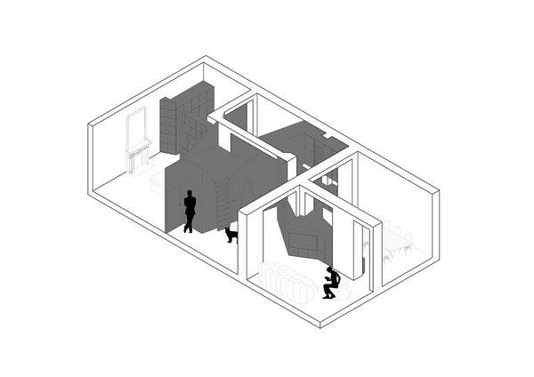 Axonometric Photo 10 of Apartment XIV modern home