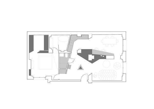 Floor plan Photo 11 of Apartment XIV modern home