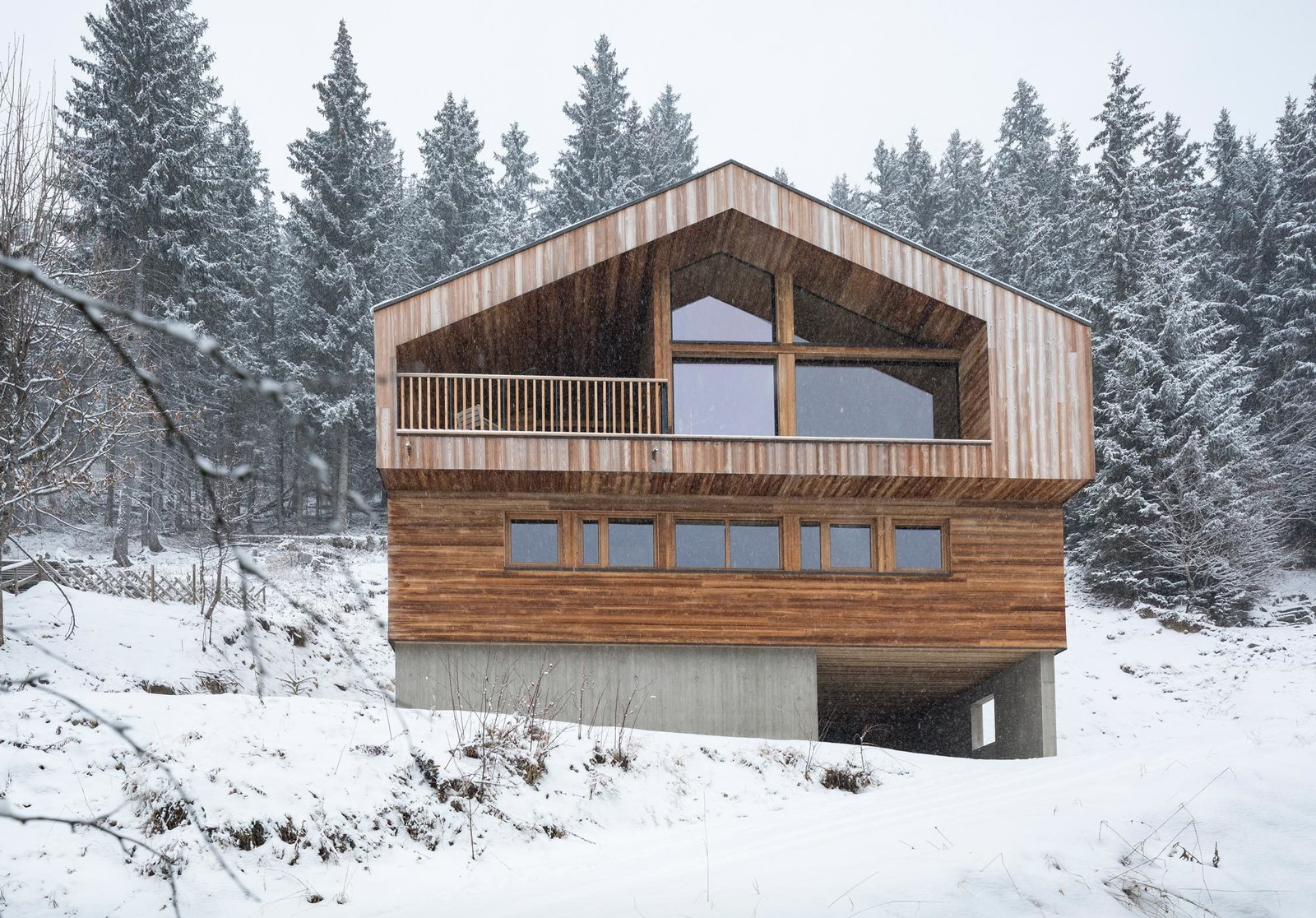 Tagged: Outdoor, Slope, Woodland, and Trees. Mountain House by studio razavi architecture