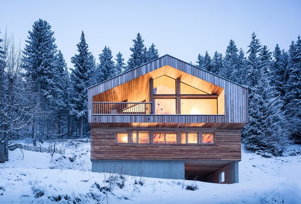 Modern home with outdoor, woodland, slope, and trees. Photo 8 of Mountain House