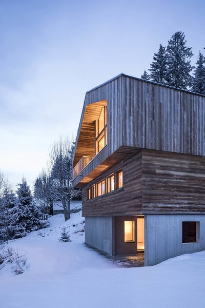 Modern home with outdoor, slope, woodland, and trees. Photo 9 of Mountain House