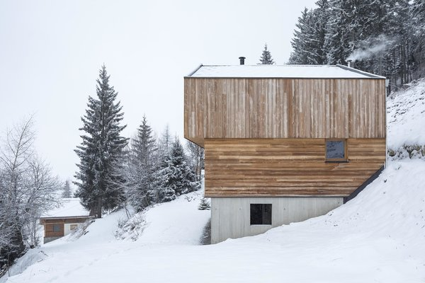 Modern home with outdoor, slope, woodland, and trees. Photo 5 of Mountain House