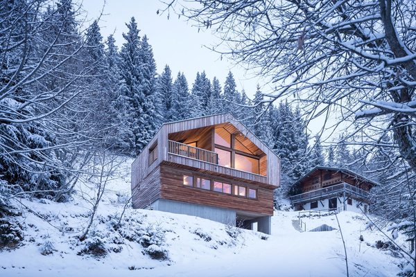 Modern home with outdoor, slope, woodland, and trees. Photo 7 of Mountain House
