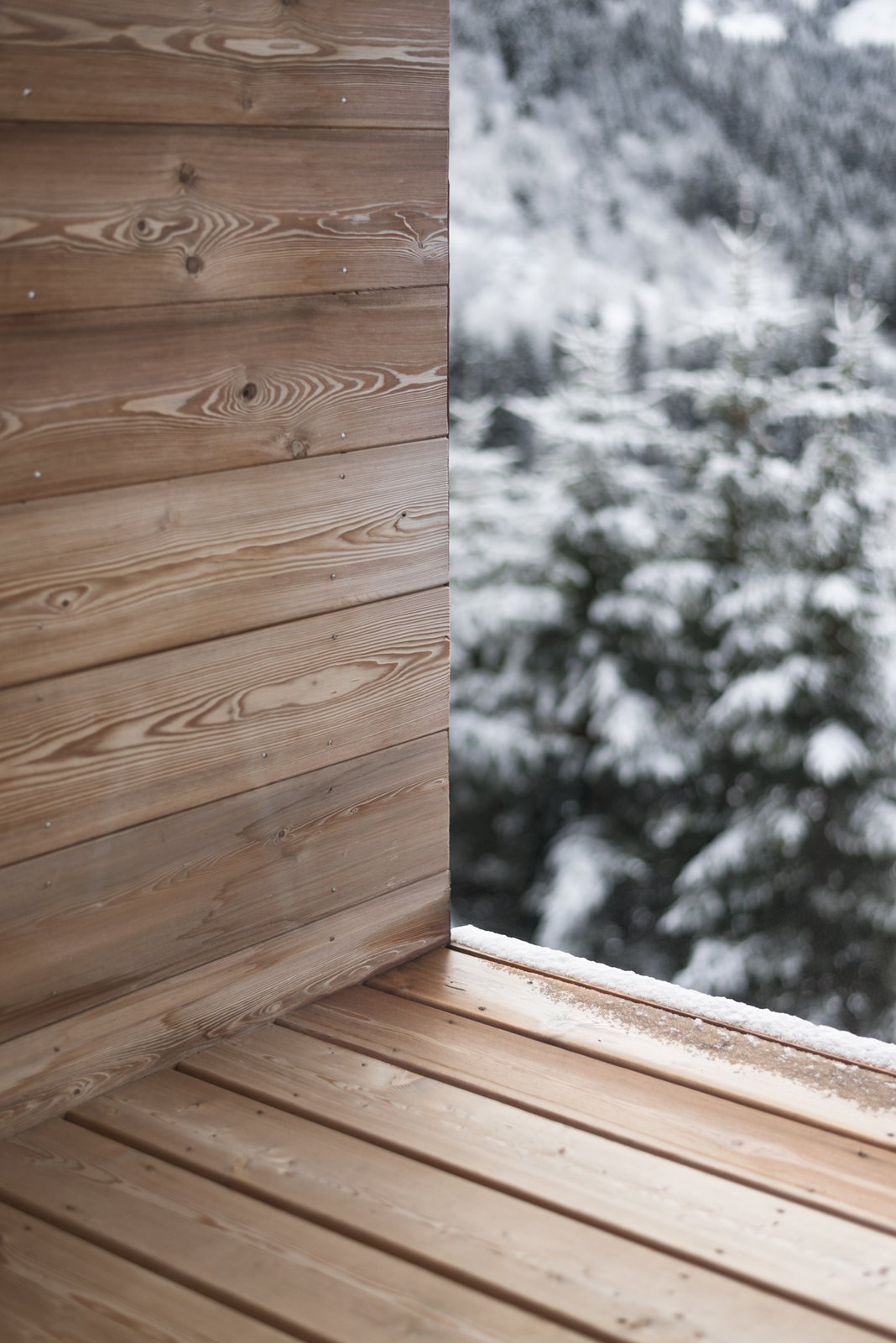 Terrace detail Tagged: Outdoor and Wood Patio, Porch, Deck.  Mountain House by studio razavi architecture