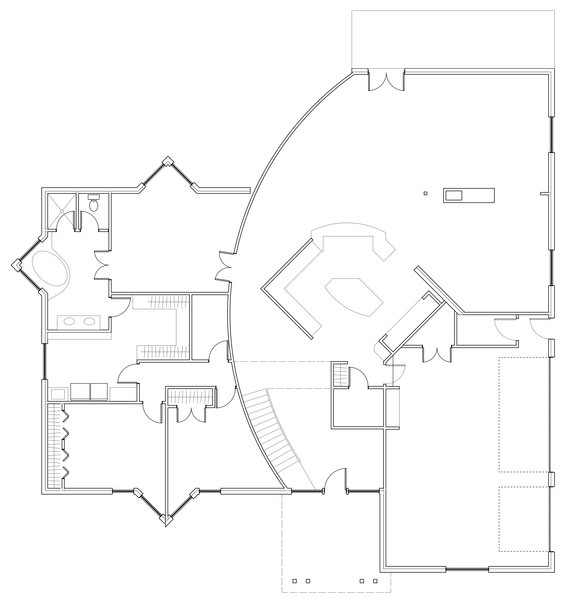 First Floor Plan Photo 7 of Deerbrook Estates Home modern home