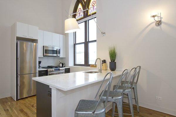 Photo 6 of Chicago Church Conversion - 2 bedroom in Bucktown modern home