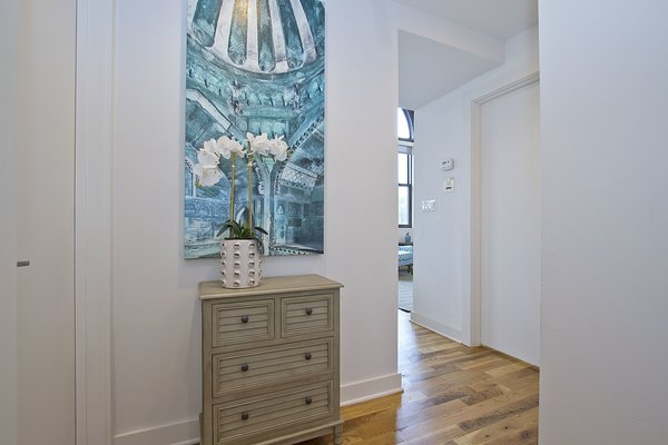 Entryway Photo 12 of Chicago Church Conversion - 2 bedroom in Bucktown modern home