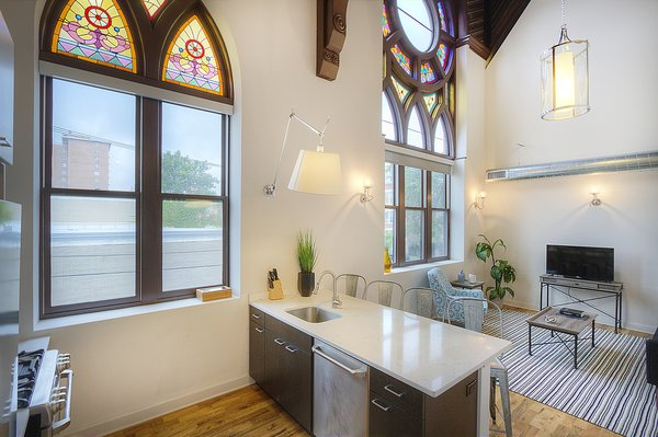 Photo 7 of Chicago Church Conversion - 2 bedroom in Bucktown modern home