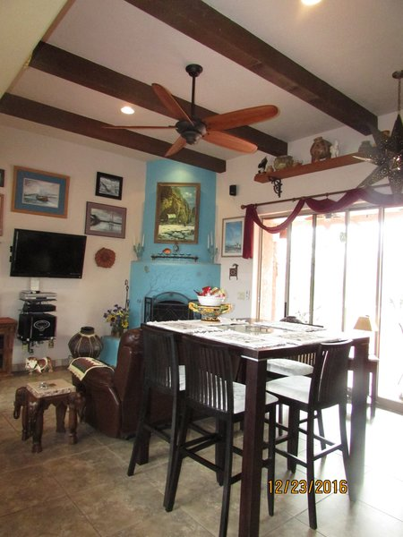 Living room/Great room dining area Photo 9 of Caliente Creek Ranch modern home