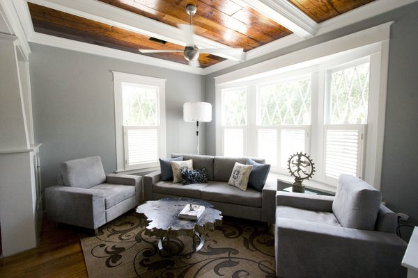 Living Room with modern fixtures  Photo 8 of Historic Bungalow modern home