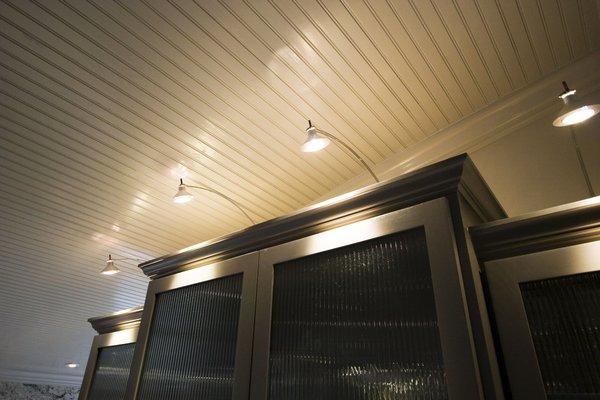Modern Light Fixtures highlight the wine bar Photo 14 of Modern Victorian Interior modern home