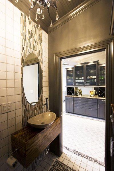 Custom zebrawood vanity base Photo 18 of Modern Victorian Interior modern home
