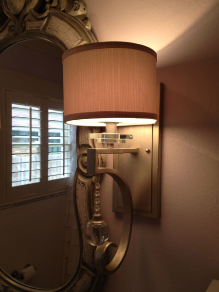 New light fixtures brought some much needed elegance to the bathroom. Photo 6 of Forever Home - Family Bath modern home