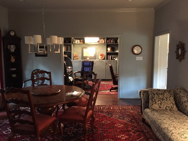 The former living room became the new dining room, while the former dining room became a customized office for this family.  A new doorway from the kitchen/family room to the dining room was added for a better flow for this family. Photo 9 of ADA Kitchen modern home
