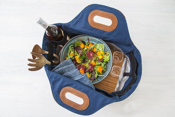 Modern Food Tote with wipeable lining and removeable cutting board Photo  of Millie | Lottie modern home
