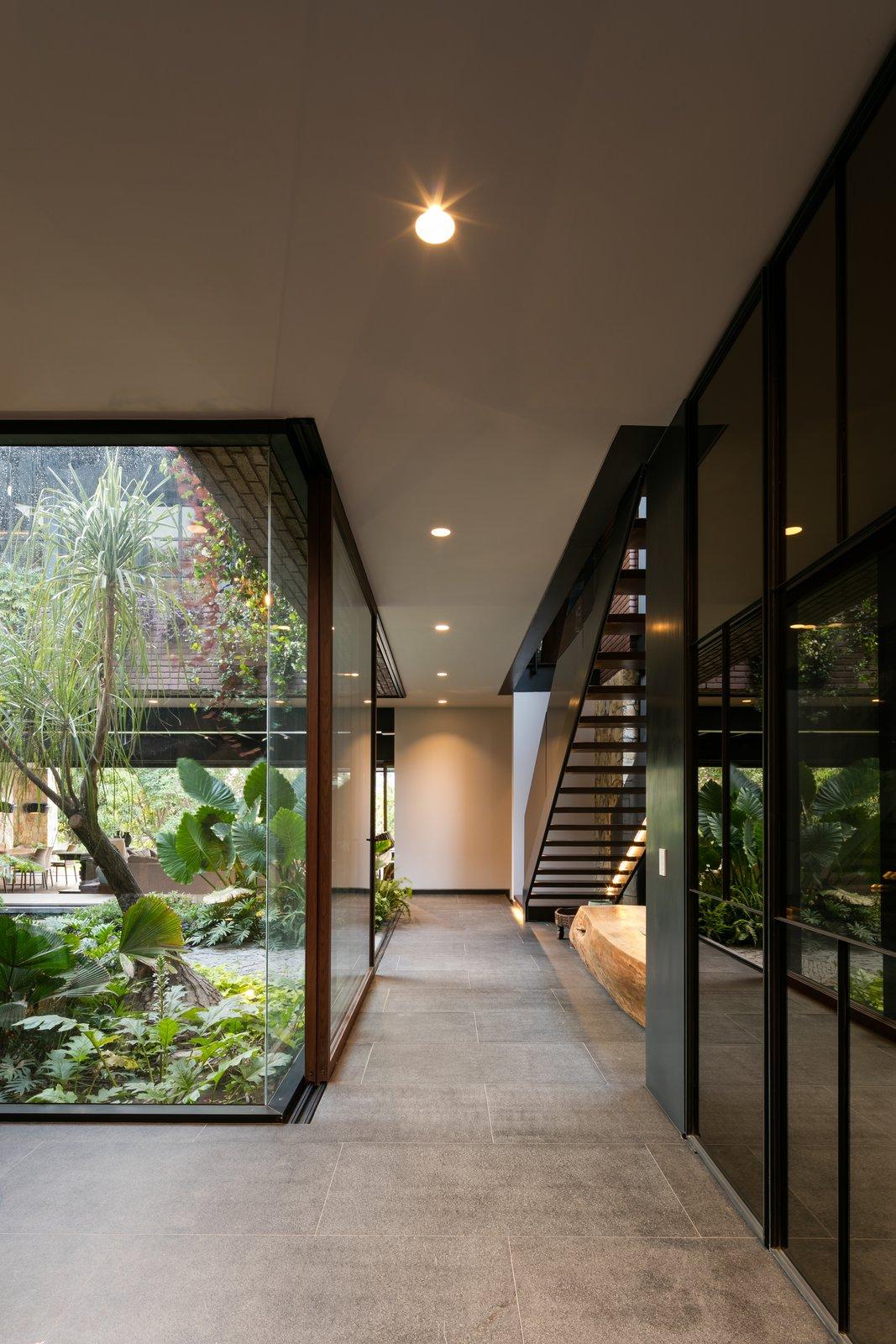 Tagged: Hallway and Porcelain Tile Floor.  Casa OM1 by Santiago Rivero