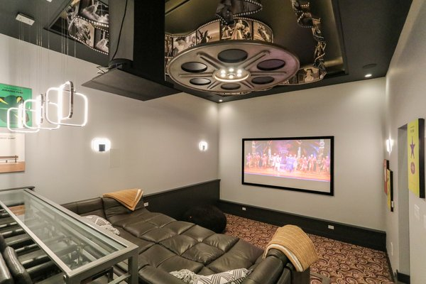 Modern Farm House - Private Home Theater Photo 8 of Modern Farm House Eco-Smart Home modern home