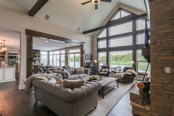 Cozy two story great room with vaulted ceilings Photo 6 of Modified Amelia II Model by DJK Homes modern home