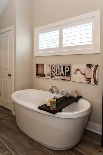Soaking Tub in Master Suite Photo 3 of Modified Amelia II Model by DJK Homes modern home