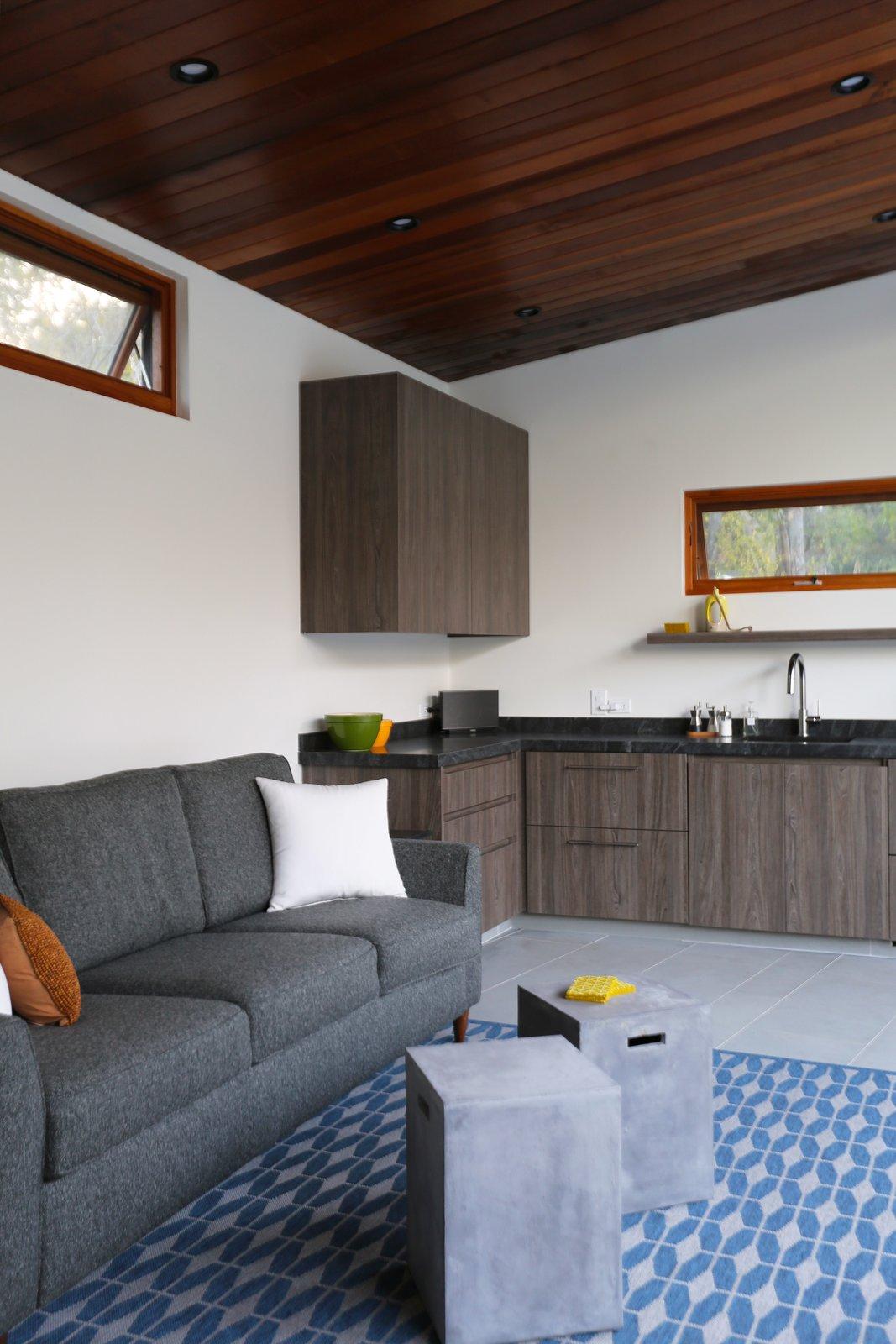 Pool House Living Room  Los Altos Hills Landscape by Greenblott Design