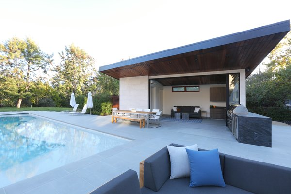 Pool & Pool House Photo 3 of Los Altos Hills Landscape modern home