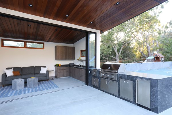 Indoor Outdoor Kitchen Photo 4 of Los Altos Hills Landscape modern home