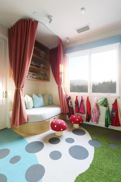 Playroom - Custom Stage/Reading Nook Photo 2 of The Fun House modern home