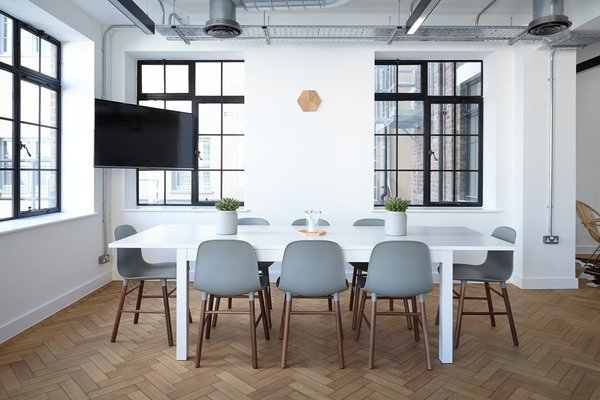 Light is an important element and a well-lit space with big windows is crucial to productivity and good mood. Photo 2 of Project Office modern home
